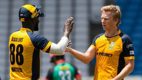 Kuggeleijn claims second T20 four-wicket haul, bags new CPL record