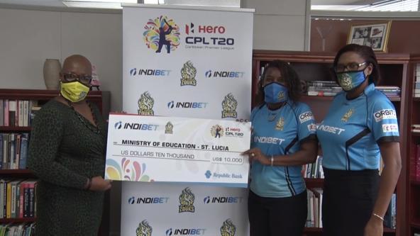 St Lucia Zouks and Title sponsor Indibet fulfil charity pledge